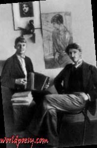 Сергей Есенин и Сергей Городецкий. Петроград, 1915 г.